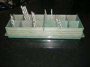 Разборные кассеты для хранения комплектующих,  радиодеталей,  инструмент