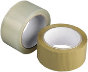 Скотч упаковочный прозрачный и коричневый
