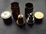 Бронзовые коробочки от старинных  объективов микроскопов