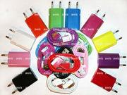 Цветное зарядное устройство и шнур синхронизации для IPHONE 4 4S 3G 3G