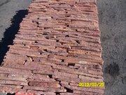Фасадно-стеновая нарезка-торец красный