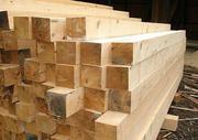 Пиломатериалы из свежераспиленного леса хвойных пород древесины
