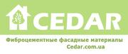 Фиброцементный сайдинг Cedar Premium,  махогон