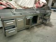 Барный холодильный стол с ящиками б.у.